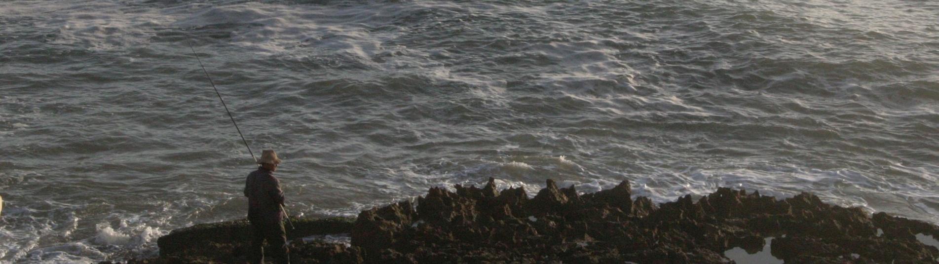 Fischer am Strand